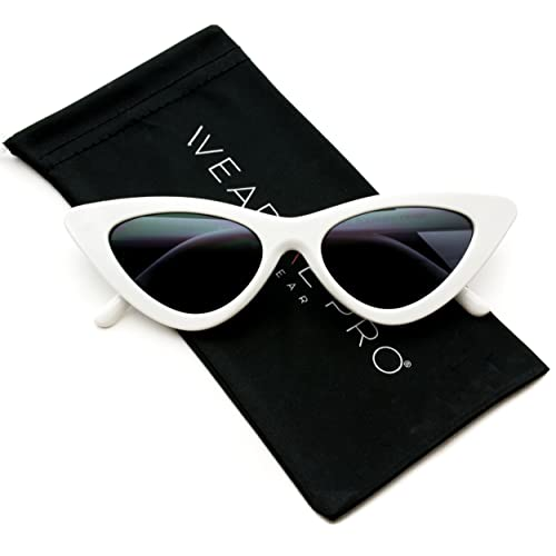 86acacfaec WearMe Pro - Retro Vintage Tinted Lens Cat Eye Sunglasses