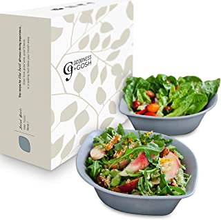 Salad Fruits Pasta Cereal Porcelain Serving Bowls Set Of 2 Stylish Leaf Shaped 2 Colors Grey Or White, Mix & Match Our Entire Alfresco Ceramic Range For Backyard BBQ Or Outdoor Parties
