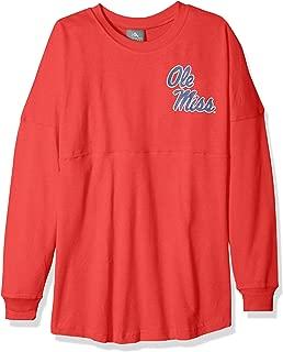 NCAA Ole Miss Rebels Womens NCAA Women's Long Sleeve Mascot Style Teeknights Apparel NCAA Women's Long Sleeve Mascot Style Tee, Athletic Red, Large