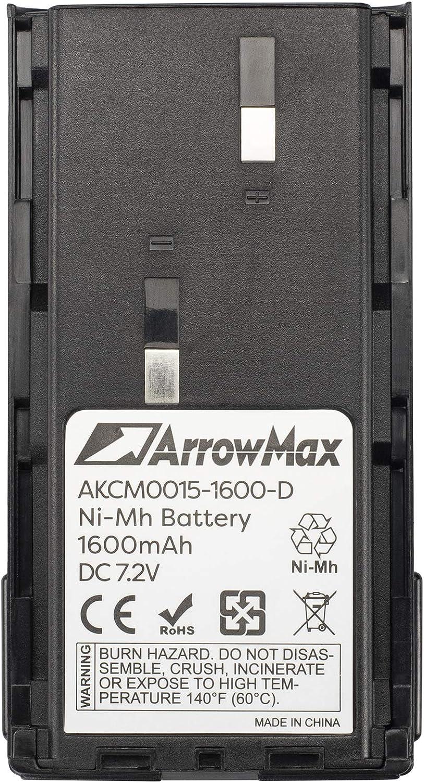 Arrowmax AKCM0015-1600-D Two Way Radio Battery for Kenwood TK-260 TK-270 TK-360 TK-360 TK-2100 as KNB-14A KNB-15