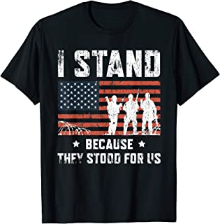I Stand For The National Anthem Tshirt, I Dont Kneel Shirt