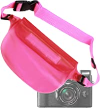 DURAGADGET Compact Camera Waterproof Waist Bag/Dry Pouch - Suitable for Compact Cameras Including Fujifilm FinePix X10, XP150, S2980 & Real 3D W3 (Pink)