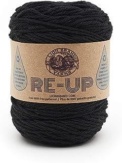 Lion Brand yarn Re-Up Yarn, Black (1 skein/ball)