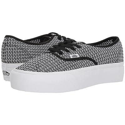 Vans Authentic Platform 2.0 ((Summer Mesh) Black/True White) Skate Shoes