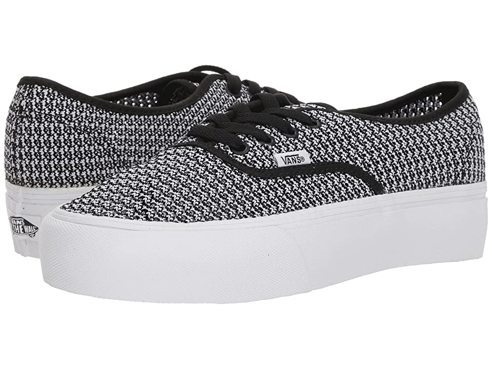 Vans Authentic Platform 2.0 ((Summer Mesh) Black/True White) Skate Shoes