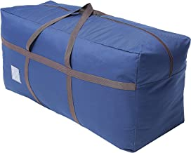 Large Blue Duffel Storage Bag - Premium-Quality Heavy Duty 600D Polyester Oxford Cloth with Handles and Reinforced Seams -...