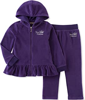 Juicy Couture Girls' Velour Jog Sets 紫色 8/10