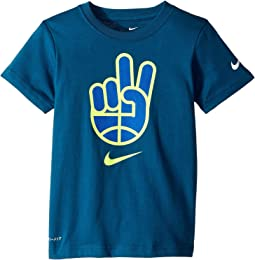 Basketball Peace Short Sleeve Tee (Little Kids)
