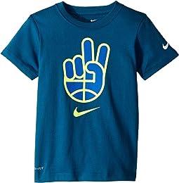 Basketball Peace Short Sleeve Tee (Little Kids)