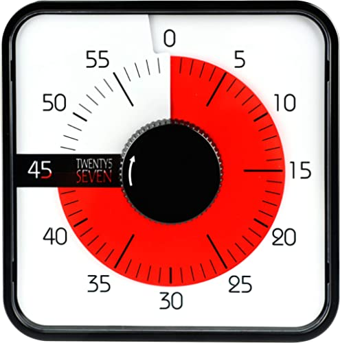 Countdown Timer 7.5 inch; 60 Minute 1 Hour Visual Timer - Classroom Teaching Tool Office Meeting, Mechanical Countdow...