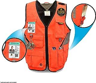 KwikSafety EXTENDED SIZING | ARTISAN Tool Vest | Multi Pocket Lightweight Work Wear | Hi Vis Volunteer Emergency Crew Surveyor Carpenter Electrician Engineer | Men & Women | 2XL/3XL