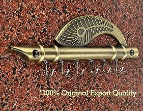 JaipurCrafts Webelkart Lord Krishna's Flute and Peacock Quills Key Stand (18.5 X 6 cm, Zinc)