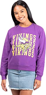Ultra Game NFL Women's Extra Soft Snow Fleece Long Sleeve Sweatshirt