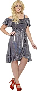 Women's 1970's Disco Diva Costume, Dress and Belt, 70 Disco, Serious Fun, Plus Size 18-20, 24342