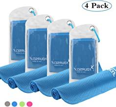 SYOURSELF 4 Pack,6 Pack Cooling Towels Set for Instant Relief-Cool Bowling Fitness Yoga Towel Set- 40