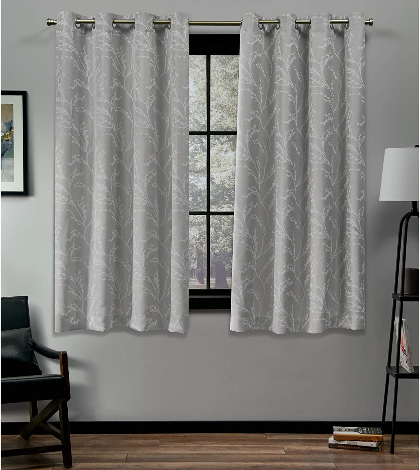 Exclusive Home Curtains Kilberry Panel Pair, 52 x 63 , Dove Grey