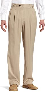Cutter & Buck Men's Gabardine Microfiber Cuffed Trouser