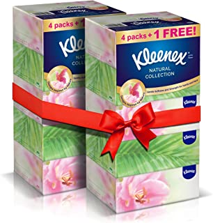 KLEENEX Natural Collections Facial Tissues, 170 Sheets x 2 Ply (Pack of 10)