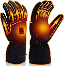 Autocastle Men Women Rechargeable Electric Warm Heated Gloves Battery Powered Heat Gloves Kit,Winter Sport Outdoor Thermal...