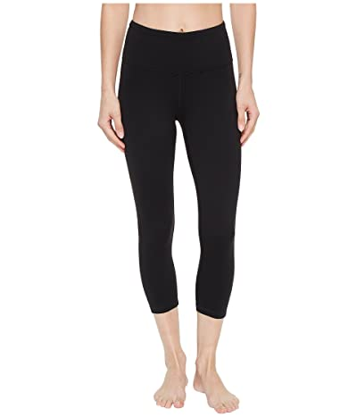 Prana Transform High Waist Capri (Black) Women