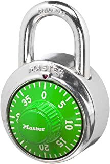 Master Lock 1505D Locker Lock Combination Padlock, 1 Pack, Assorted Colors