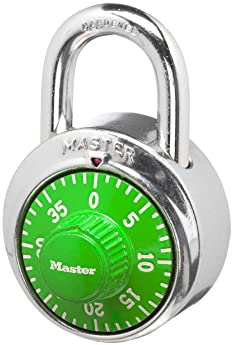 Master Lock 1505D Locker Lock Combination Padlock, 1 Pack, Assorted Colors