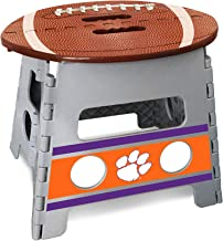 "Fanmats Clemson University Folding Step Stool 14""x13"""