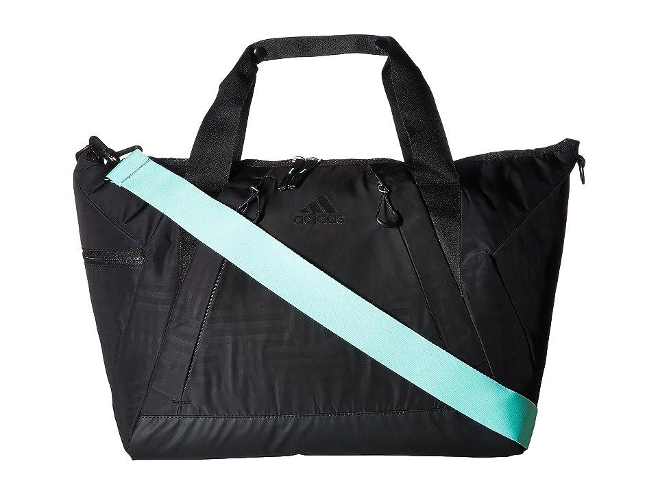 adidas Studio II Duffel (Black Dot Punch Emboss/Black/Easy Green) Duffel Bags