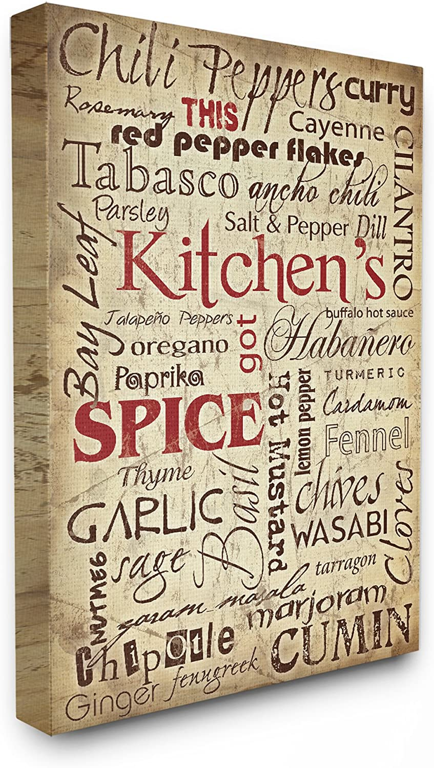 The Stupell Home Decor Collection Kitchen Spice Typography, 16  x 20
