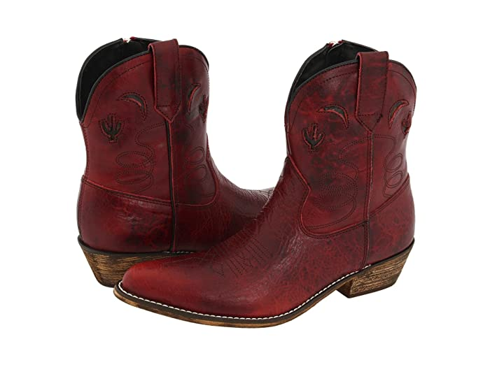 Adobe Rose  Shoes (Red Distressed) Cowboy Boots