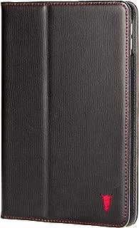 TORRO Premium Leather Smart Case Compatible with iPad Mini 5th Generation (2019 Release) Genuine Black Italian Leather Folio Cover with Stand Function for Apple iPad Mini 5 (2019) - Black