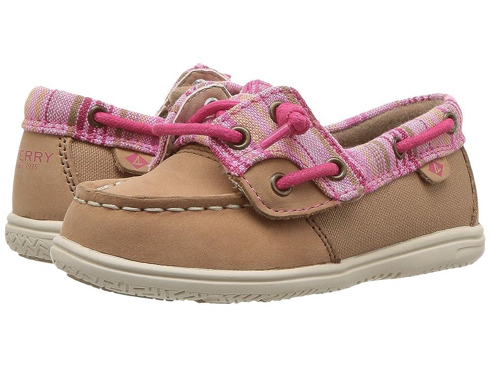 Sperry Kids Shoresider Jr. (Toddler/Little Kid) (Linen/Pink) Girl