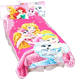 Disney Princesses Palace Pets Wonderful Love Microraschel Blanket, 62