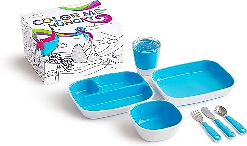 Munchkin Coffret Repas Enfant - Colour Me Hungry, Bleu