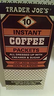 Trader Joe's 10 Instant Coffee Packets with Creamer and Sugar