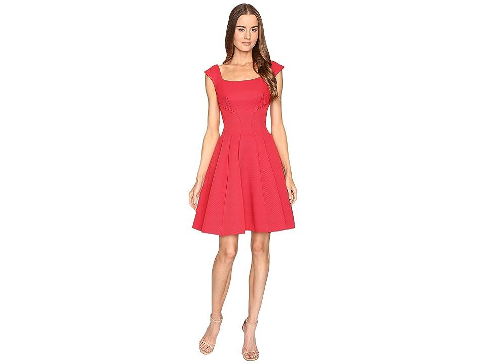 Zac Posen Sleeveless Ottman Fit and Flare Dress (Cherry) Women