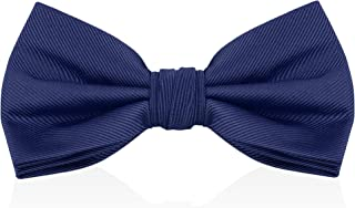 Luther Pike Seattle Bow Ties For Men - Mens Woven Pre Tied Bowties For Men Bowtie Tuxedo Solid Color Formal Bow Tie
