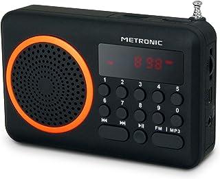 negro//gris Radio AM Metronic 477214 FM de bolsillo