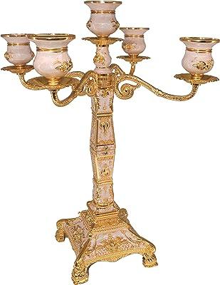NBLYW 1 Paire de bougeoirs en Fer forg/é Style r/étro europ/éen pour d/écoration de Table /à Utiliser pour Les Mariages et Les f/êtes
