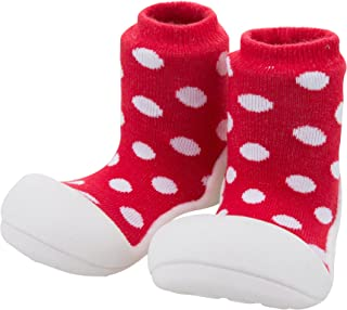 Attipas Baby First Walker Shoes (Medium, Polka Red)