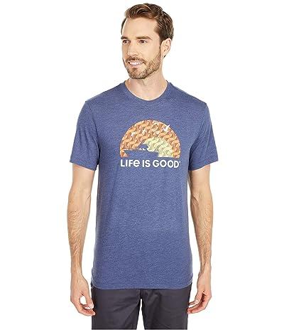 Life is Good Heaven On Earth Cool Teetm (Darkest Blue) Men