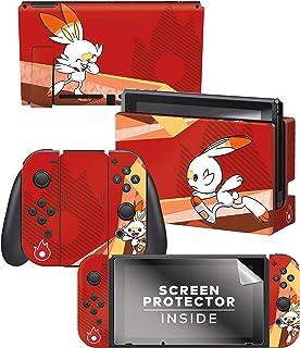 "Controller Gear Officially Licensed Nintendo Pokémon Switch Console Skin ""Scorbunny Set 1"""