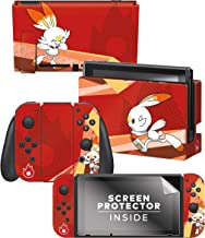 "Controller Gear Officially Licensed Nintendo Pokémon Switch Console Skin ""Scorbunny Set 1"""