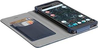 Official Krusell Kiruna Leather Flip Case for Silent Circle Blackphone 2 (Navy Blue)