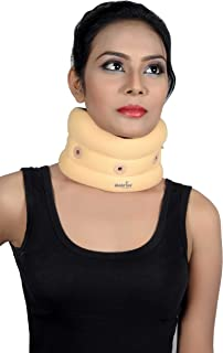 Wonder Care- Soft Cervical Collar Adjustable Collar Neck Support Brace, Wraps Aligns & Stabilizes Vertebrae - Relieves Pain, Treating & Rehabilitating Neck, Head or Spinal Orthosis/Injuries C101 M