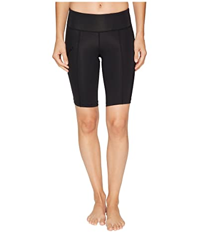 2XU Mid-Rise Compression Short (Black/Dotted Black Logo) Women