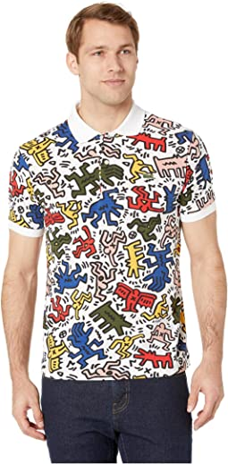 Keith Harding All Over Printed Mini Pique Polo Classic Fit