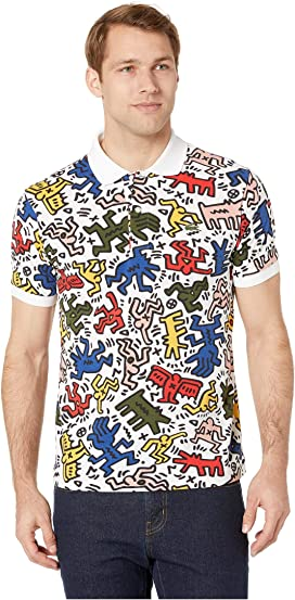a3b4d4b1aa67 Lacoste Keith Haring Pique Graphic Polo Regular Fit at Zappos.com