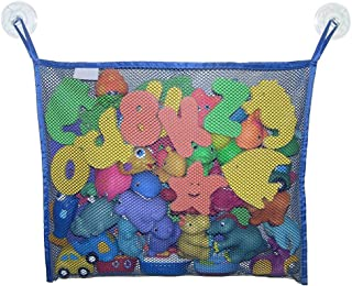 Children s Bathroom Toy Hanging Organizer Mesh Storage Bag with Hooks Suction Cups Durable and Useful