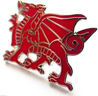Wales Welsh Dragon Cut Out Enamel and Metal Pin Badge